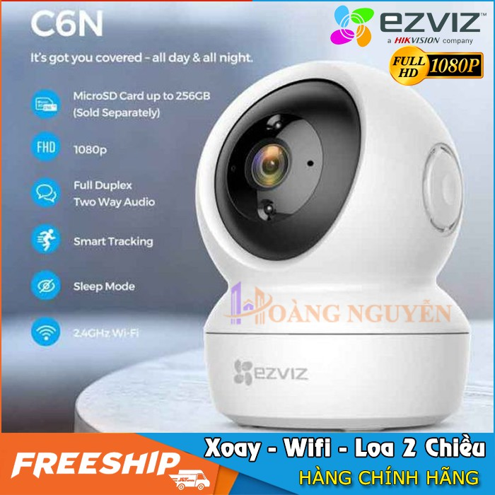 Camera Wifi Ezviz CS-CV246 C6N Full HD 1080P (2MP) - Xoay 360, Loa 2 Chiều