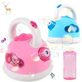 Electric Kettle Bubble Machine Electric Magic Blower Toy Music Blowing Maker Outdoor Summer Toys For Kids