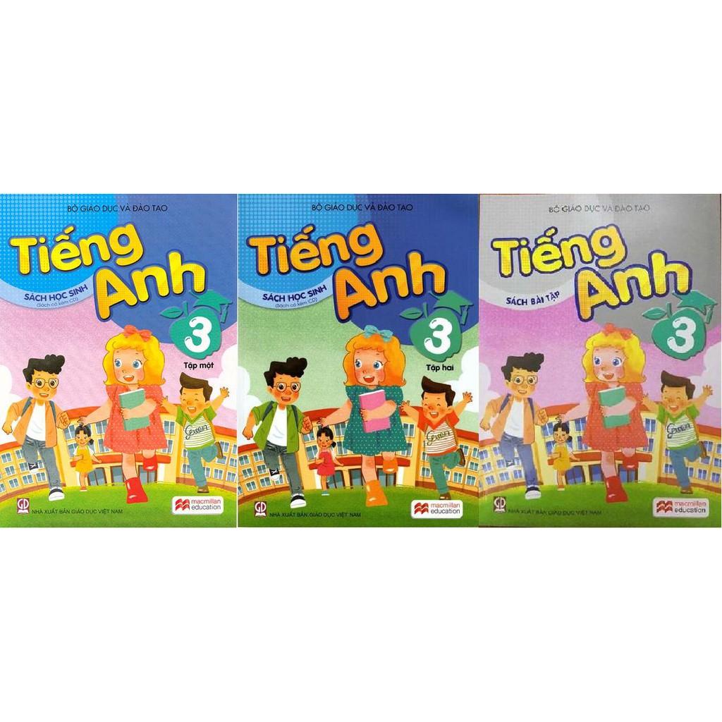 Sách - Tiếng Anh lớp 3 - trọn bộ 3 quyển