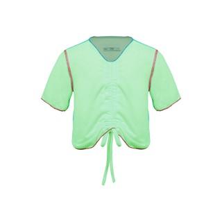 Áo phông trẻ em chỉ màu rút dây xanh K151 BÉ GÁI TNG