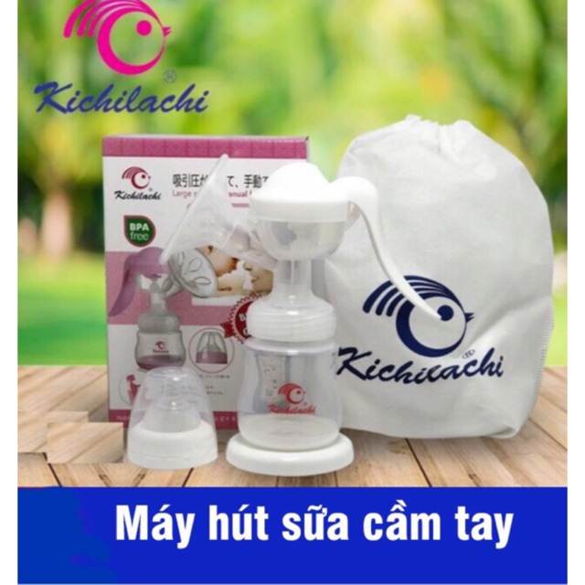 Máy hút sữa cầm tay kichilachi (mẫu mới) - Tặng kèm 6 túi tr