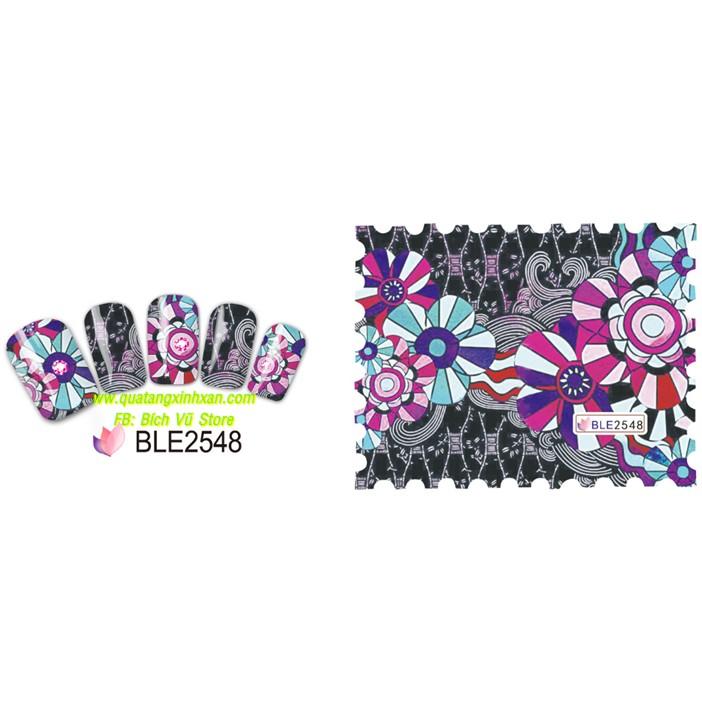 Decal dán móng nước BLE (BLE2548 - BLE2555) - 2592027 , 151554905 , 322_151554905 , 6000 , Decal-dan-mong-nuoc-BLE-BLE2548-BLE2555-322_151554905 , shopee.vn , Decal dán móng nước BLE (BLE2548 - BLE2555)
