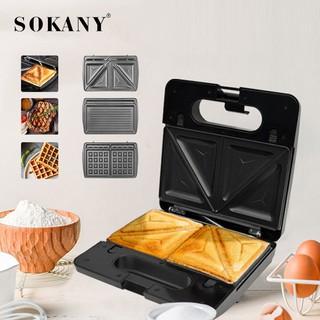 Kẹp nướng bánh mỳ Sandwich Sokany 3 trong 1