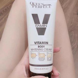 [Siêu hot] Kem body sữa Queen perfect siêu trắng da, chống nắng 250g