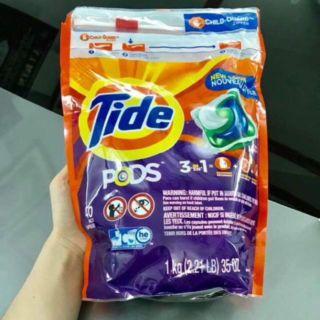 Bịch 40 viên- Viên giặt Tide Pods 3in1 mẫu mới (1kg) của Mỹ - 9924210 , 780322764 , 322_780322764 , 330000 , Bich-40-vien-Vien-giat-Tide-Pods-3in1-mau-moi-1kg-cua-My-322_780322764 , shopee.vn , Bịch 40 viên- Viên giặt Tide Pods 3in1 mẫu mới (1kg) của Mỹ