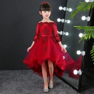 Váy Đầm Công Chúa Bé Gái Đỏ Đô Tay Lửng Sang Chảnh váy bé gái