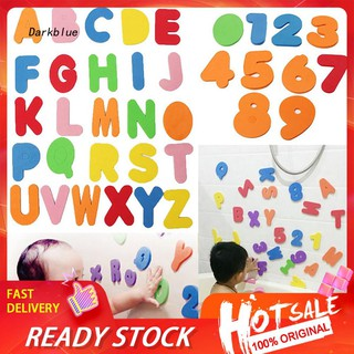 DKBL_36Pcs/Set Alphabet Letter Arbic Numrals Bath Foam Puzzle Educational Kids Toy