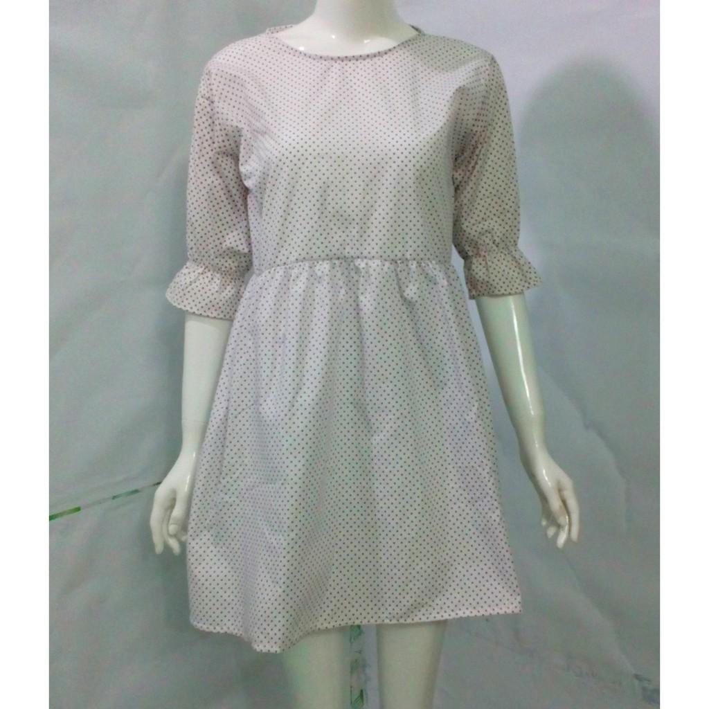 Đầm babydoll chấm bi xinh xinh, form chuẩn mà giá siêu rẻ