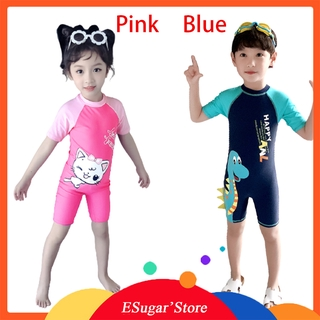 Children's Little cat Swimwear Cute Baby girl Boy Swimwear One Piece Sun Protection Swimsuit Toddler Infant Bathing Suits for Boys Kids