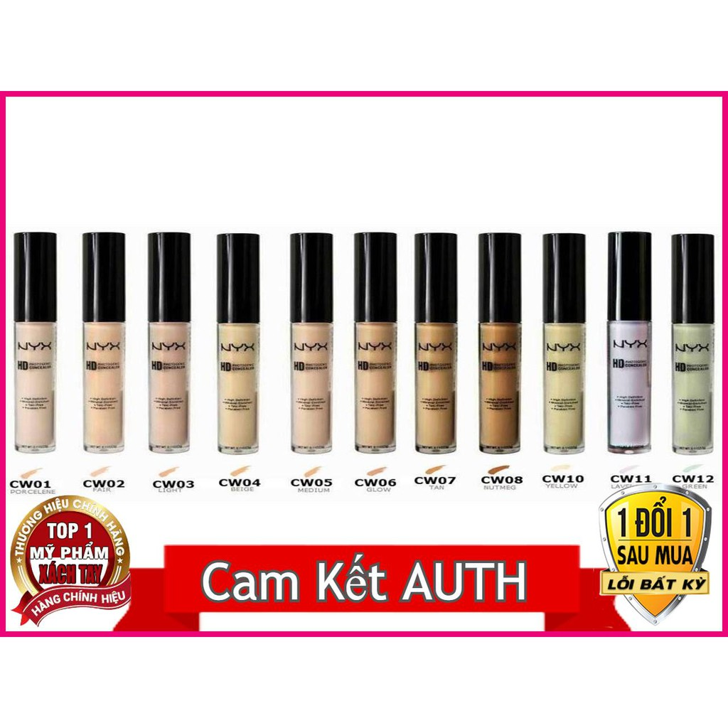 Kem Che Khuyết Điểm NYX Professional Makeup Hd Studio Photogenic Concealer Wand – 3 G