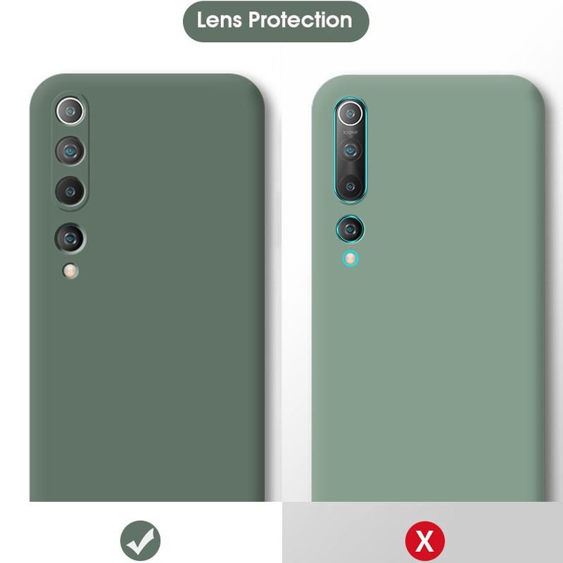 Ốp điện thoại silicon dẻo chống sốc mặt nhám màu trơn cho Redmi Note 9s Xiaomi mi 10 mi 8 9 10 lite mi10 Pro