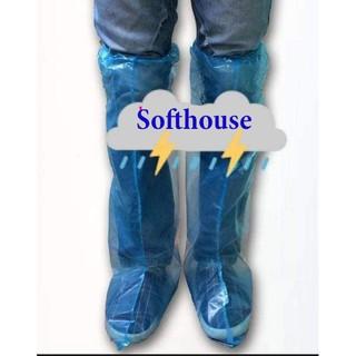 Ủng, bao giày đi mưa nilong loại 1 dày dặn, chắc chắn, không mùi có thể tái sử dụng phù hợp đi phượt, đi làm, đi chơi