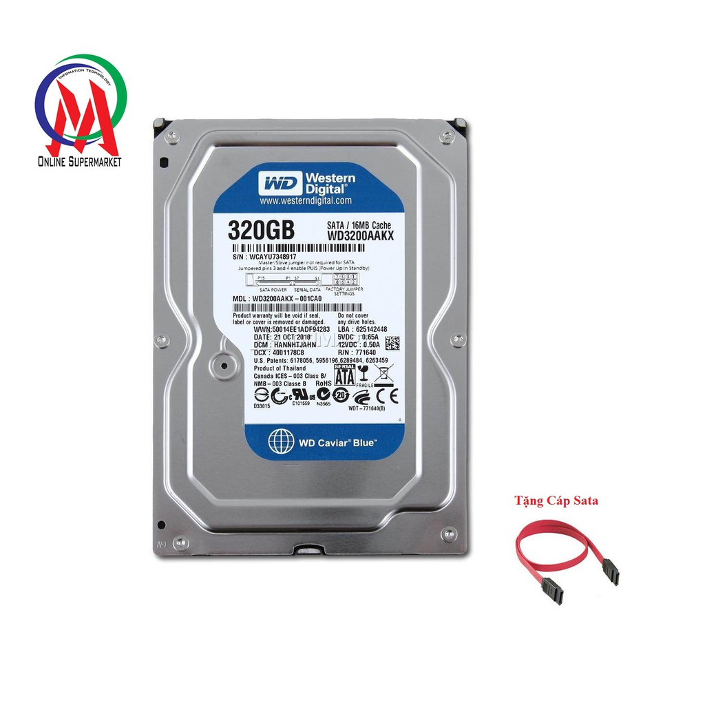 Ổ cứng máy PC 320G BH 24 tháng tặng kèm cáp Sata - 9972396 , 1246788851 , 322_1246788851 , 299000 , O-cung-may-PC-320G-BH-24-thang-tang-kem-cap-Sata-322_1246788851 , shopee.vn , Ổ cứng máy PC 320G BH 24 tháng tặng kèm cáp Sata