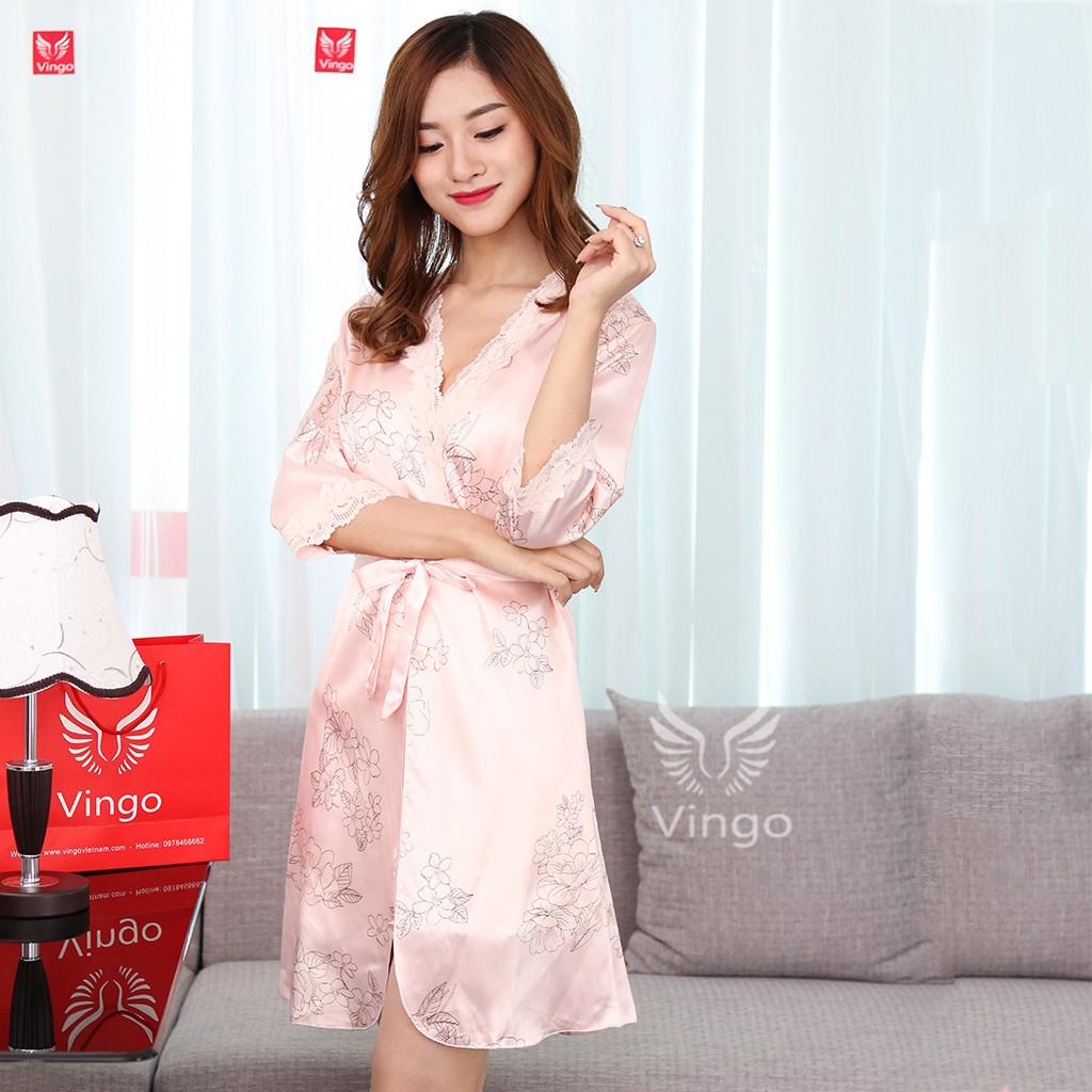 Váy Ngủ Lụa 2 Dây Kèm Áo Choàng Thương Hiệu Vingo - 3350855 , 454032444 , 322_454032444 , 375000 , Vay-Ngu-Lua-2-Day-Kem-Ao-Choang-Thuong-Hieu-Vingo-322_454032444 , shopee.vn , Váy Ngủ Lụa 2 Dây Kèm Áo Choàng Thương Hiệu Vingo