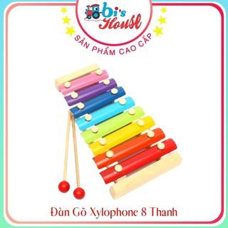 Đàn Gõ Xylophone 8 Đồ chơi Âm Nhạc Tập Tay Cầm Nắm Khéo Léo Cho Bé