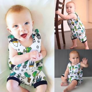 ◕‿◕Newborn Baby Boys Girls Floral Vest Romper Jumpsuit Casual Clothes Outfits Summer