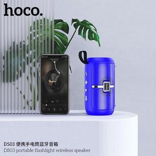 Loa bluetooth không dây mini nghe nhạc từ 5/7 tiếng nghe liên tục kiêm đèn pin Hoco DS03 chính hãng