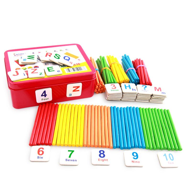 Creative Wooden Children Count Rod Kindergarten Mathematics Teaching
