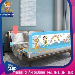 Thanh chắn giường an toàn cho bé 1M6, 1M8, 2M, 2M2 Aachmann CB-1010 trượt lên trượt xuống giá bán 1 thanh thumbnail