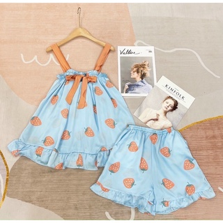 Đầm dâu xanh cam