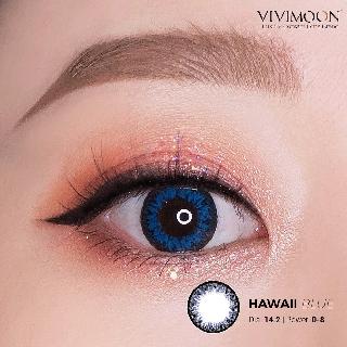 Kính áp tròng Hàn Quốc VIVIMOON màu xanh dương HAWAII BLUE 14.2 mm thumbnail