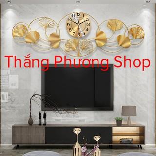 [Mẫu Mới] Đồng Hồ Treo Tường Trang Trí Lá Sen TP-014 ( Hàng Chính Hãng )