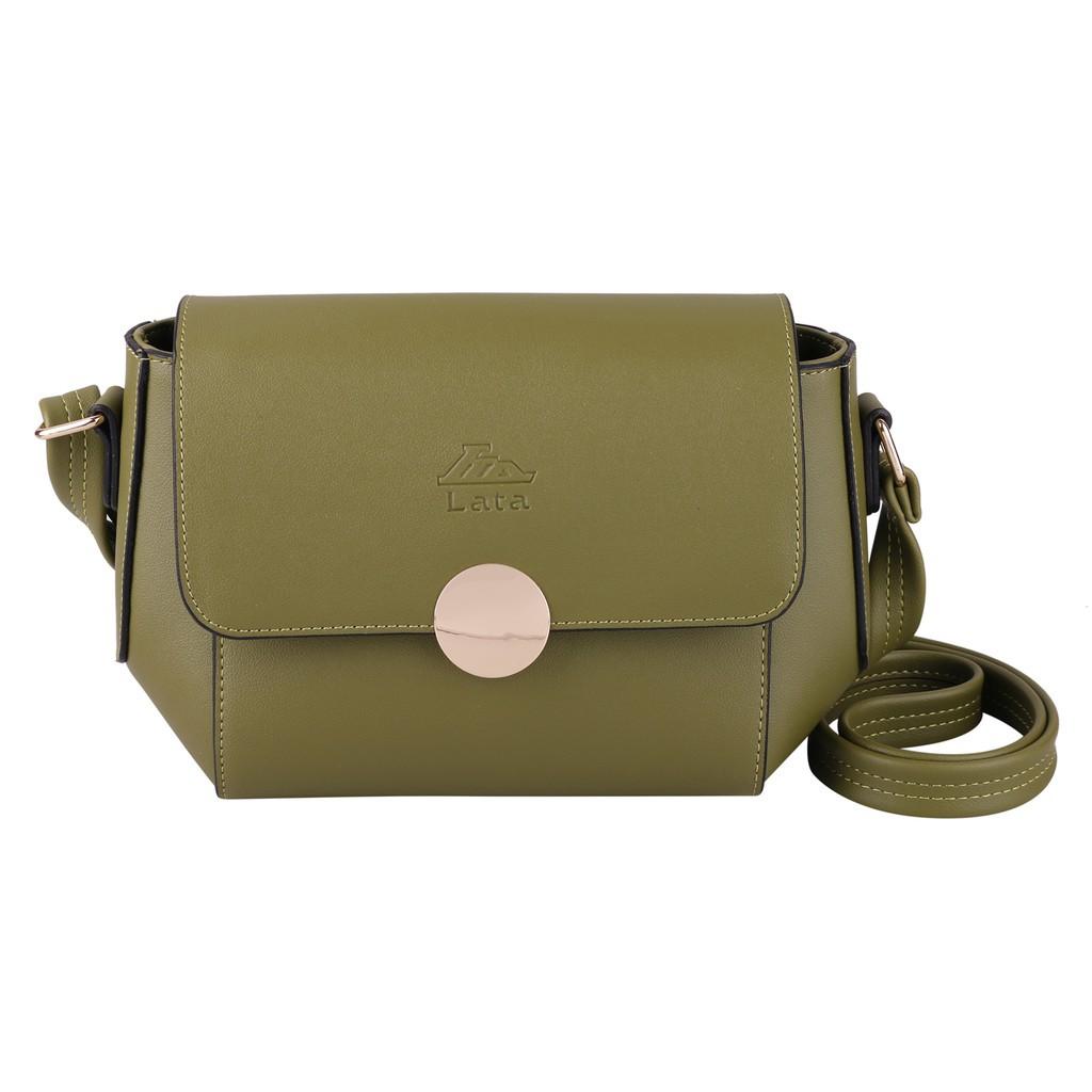 Túi đeo chéo nữ LATA HN57 màu rêu -[Hàng Mới]