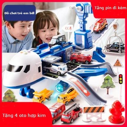 Đồ chơi máy bay trẻ em cỡ lớn,hiệu ứng âm thanh, ánh sáng, biến dạng đa chức năng, chạy đà, xếp hình cho bé