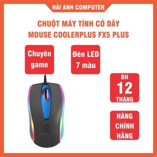 Chuột máy tính có dây CoolerPlus FX5 Plus Chuyên game - Đèn LED 7 màu - 1000DPI - Lăn chuột nhạy - Hàng chính hãng thumbnail
