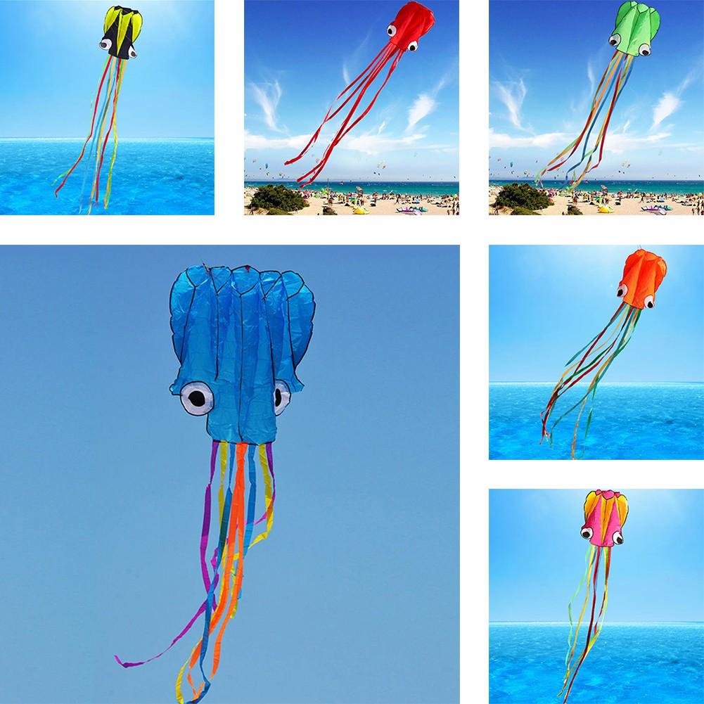 🌼Ready🌼 Diều thả hình con mực 3D sáng tạo kèm dây 4m