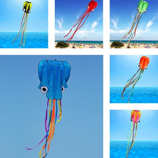 Bestseller 3D Stunt Octopus Sport Flying Kite Outdoor Activitiy Toy With 4M Single Line