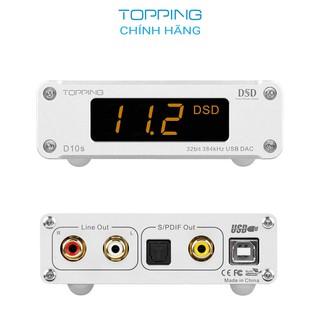 [MÃ XUANT100K GIẢM 100K] Thiết bị giải mã tín hiệu âm thanh Topping D10S - Hàng chính hãng DAC ES9038Q2M, PCM32bit 384 thumbnail