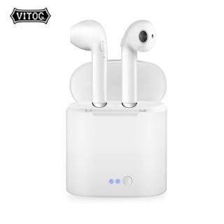 Tai nghe không dây Vitog kết nối Bluetooth TWS kèm hộp sạc