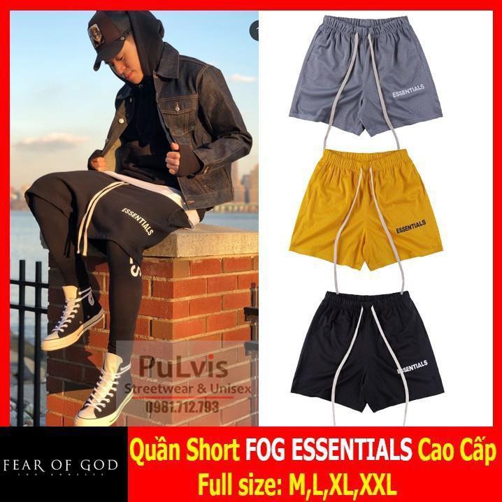 ⚡️Quần short FOG ESSENTIALS x PACSUN full tag,vải lưới thoáng mát, quần đùi FOG