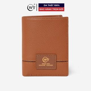 [Mã MABRL220 hoàn 15% đơn 99K tối đa 50K xu] Ví Da Nam Da Bò Cao Cấp Màu Cam Đào (Caramel) WT Leather 010133011 thumbnail