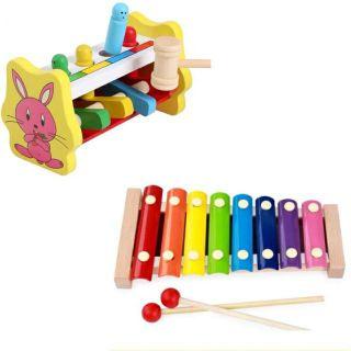Combo 2 món đồ chơi gỗ thông minh an toàn cho bé