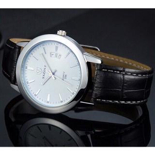 Đồng hồ nam Yazole dây da mặt kèm lịch ngày chạy dọc độc đáo và tinh tế + Tặng hộp đồng hồ sang trọng (Đỏ hoặc đen) thumbnail