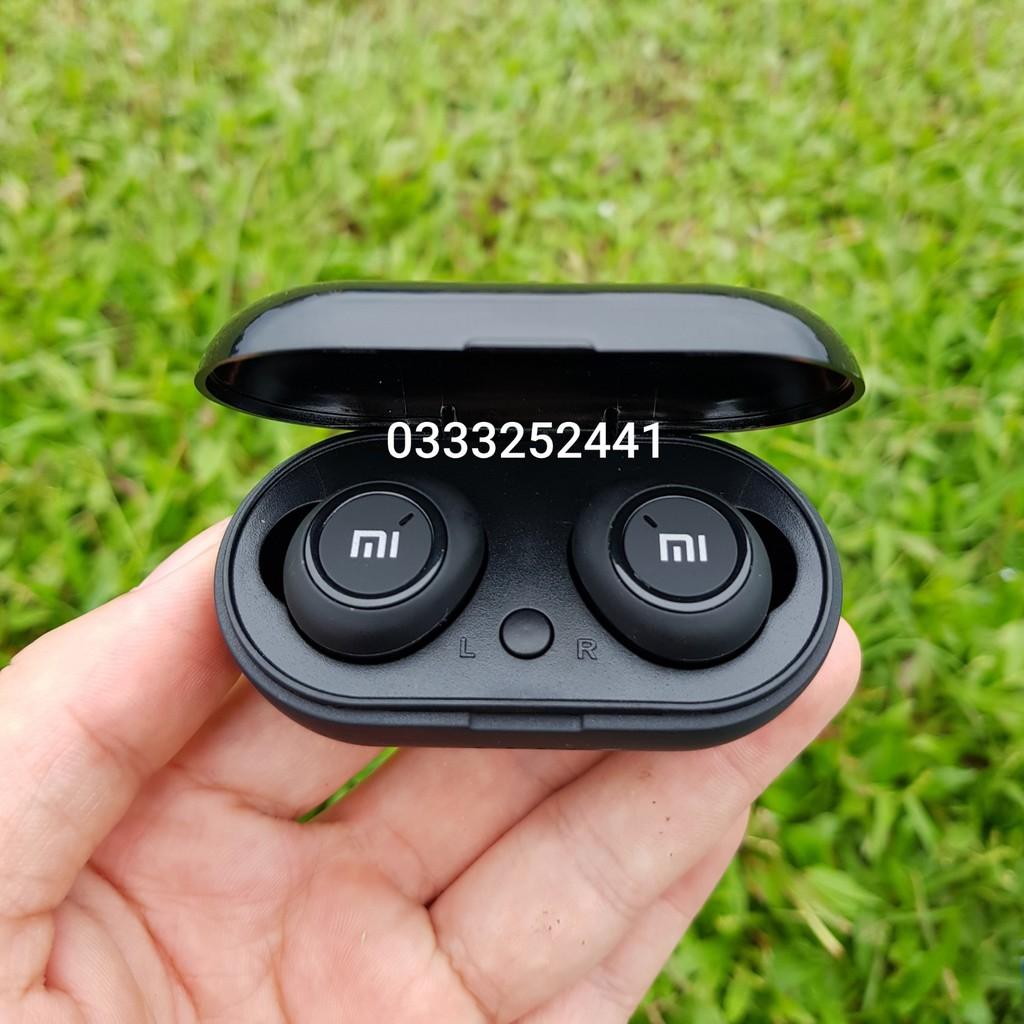 FREESHIP_Đơn_50k Tai Nghe Bluetooth AirDots Redmi2 Đen True Wireless Công Nghệ 5.0 Kèm Đốc Sạc ,Cảm Biến Tự Động Kết Nối