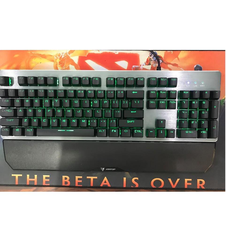 Bàn phím giả cơ Imbatop led đổi màu ( tặng kèm kê tay)