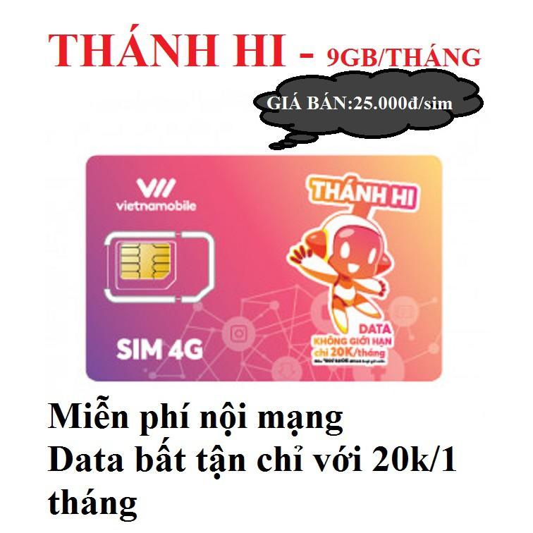 Sim Thánh Hi 9gb/1 tháng Vietnamobile