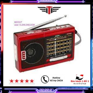 CHÍNH HÃNG Đài Radio Cassette-FM Âm Thanh To Rõ Nét-Bắt Sóng Cơ Dễ Dùng Tích Hợp Đèn Pin-Sạc Điện-Thẻ NHớ-USB BH 6T thumbnail
