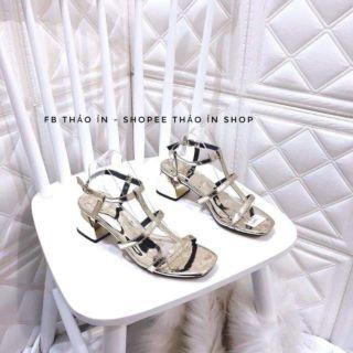 (Sẵn)   Sandal cao 5p hàng Quảng Châu cực đẹp