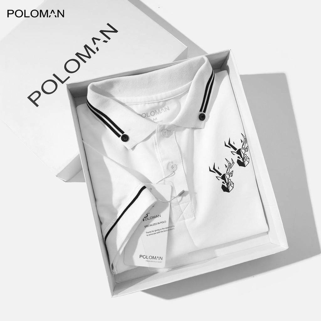 Áo thun Polo nam cổ bẻ GIZA vải cá sấu Cotton xuất xịn, chuẩn form,sang trọng-lịch lãm P66 - POLOMAN