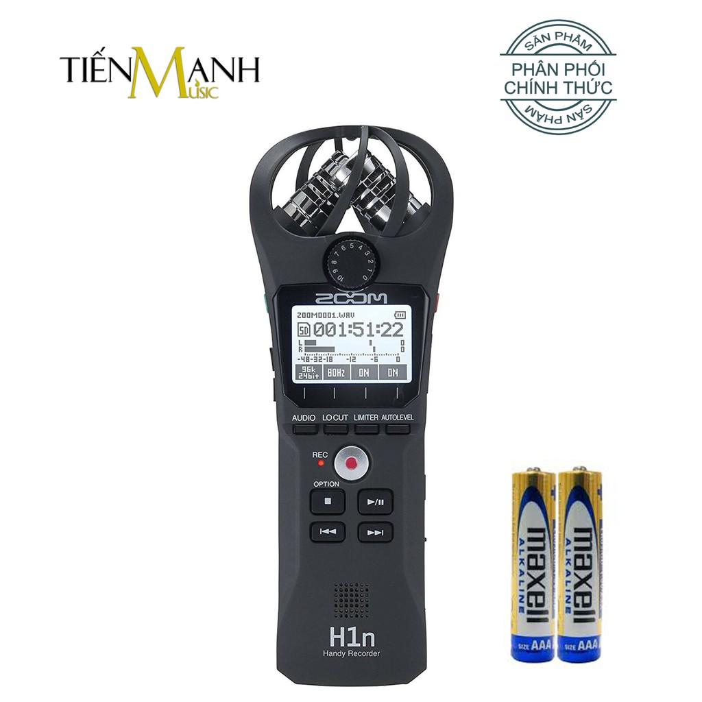 Máy Thu Ghi Âm Mic Zoom H1n - Thiết bị thu âm cầm tay kỹ thuật số Microphone Stereo Tiến Mạnh Music phân phối chính hãng