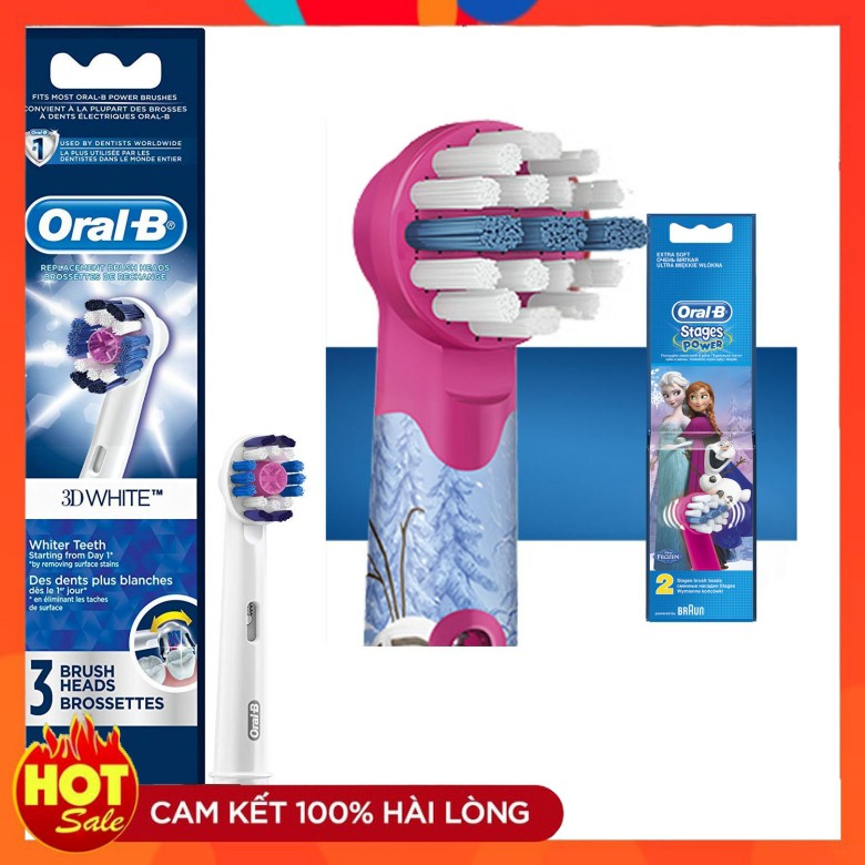 Đầu bàn chải điện thay thế Oral B cho bé từ 3-12 tuổi