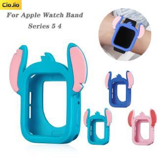 Ốp Silicone Họa Tiết Hoạt Hình Cho Đồng Hồ Apple Watch Series 5/4 40mm 44mm
