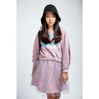 Đầm Thun Dài Tay In Chữ Nhũ Dành Cho Bé Gái (4-15 tuổi) Jookyli