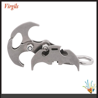 Virgils. Stainless Steel Survival Folding Grappling Hook Outdoor Climbing Claw Tool