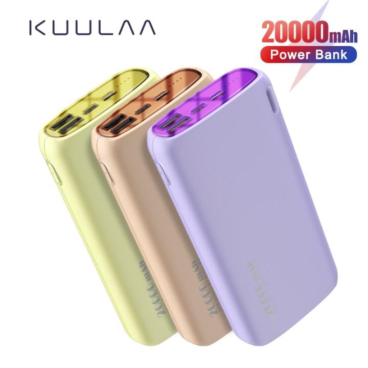 Pin Sạc Dự Phòng KUULAA KL-YD14 2 Cổng USB Màu Macaron 20000mAh Tiện Lợi Cho Xiaomi Samsung i