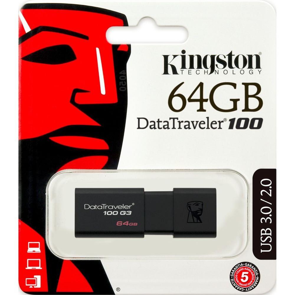 Thanh Nhớ Ngoài Kingston 64GB USB 3.0 DT100G3